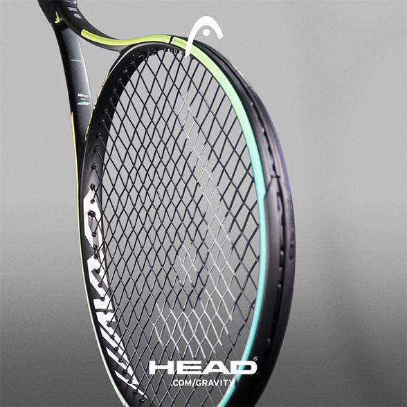 Nová řada tenisových raket Head Gravity